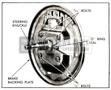 1958 Buick Brake Backing Plate