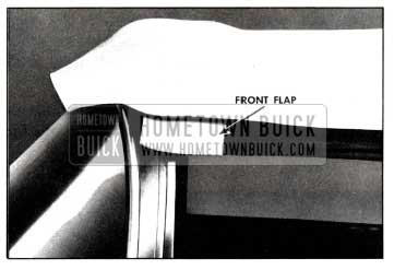 1958 Buick Cementing Front Flaps
