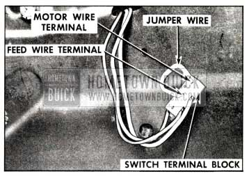 1958 Buick Checking Folding Top Control Switch
