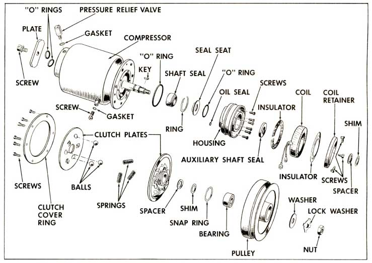 1958 Buick Compressor Exploded View