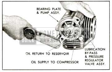 1958 Buick Compressor - Install Bearing Plato and Pump Assembly
