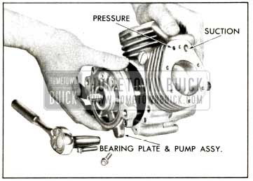 1958 Buick Compressor - Remove Bearing Plate and Pump Assembly