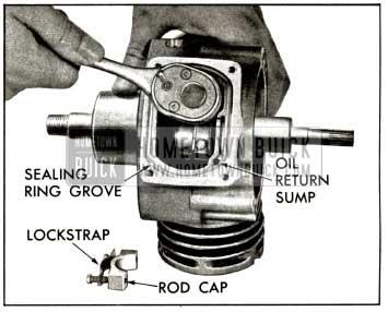 1958 Buick Compressor - Remove Rod Lockstraps and Caps
