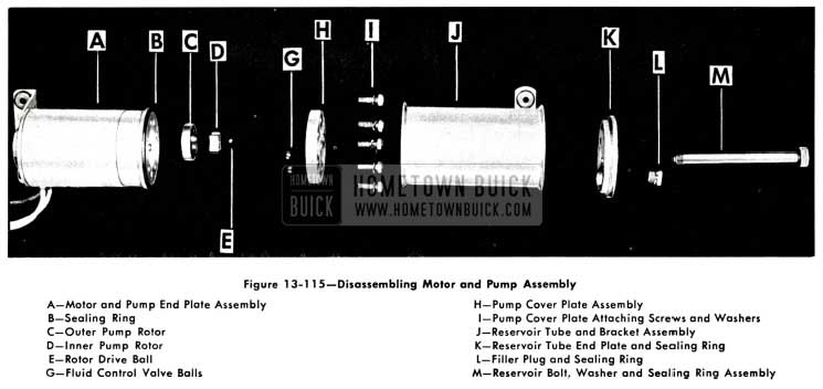 1958 Buick Disassembling Motor and Pump Assembly