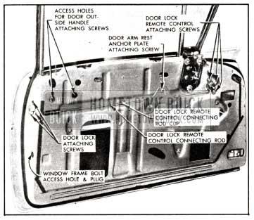 1958 Buick Door Lock Removal-Models 41-48