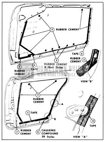 1958 Buick Door Water Deflectors