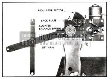1958 Buick Door Window Electric Regulator