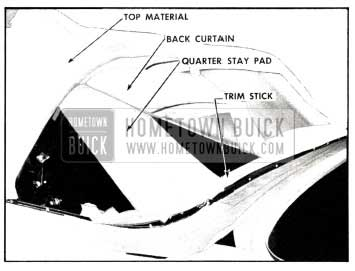 1958 Buick Folding Top Component at Rear Window Area