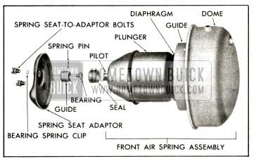1958 Buick Front Air Spring Assembly (Exploded View)