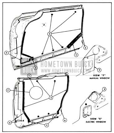 1958 Buick Front and Rear Door Water Deflector Installation