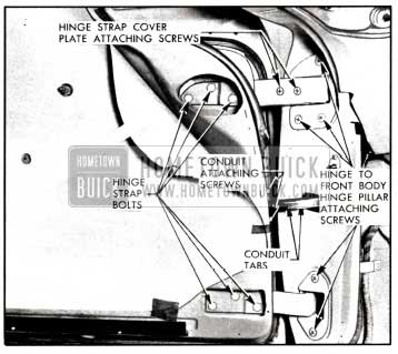 1958 Buick Front Door Adjustment-Hinges