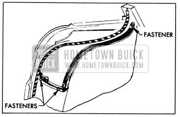 1958 Buick Front Door Hinge Pillar Auxiliary Weatherstrip