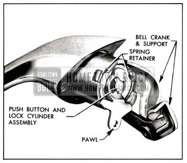 1958 Buick Front Door Outside Handle Assembly-Four-Door Models