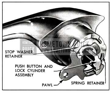 1958 Buick Front Door Outside Handle Assembly-Two-Door Models