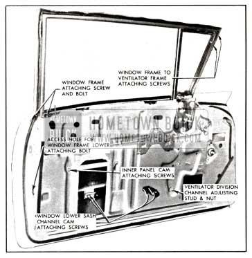 1958 Buick Front Door Window-Model 41-48