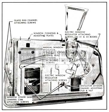 1958 Buick Front Door Window-Rivieras and Convertibles