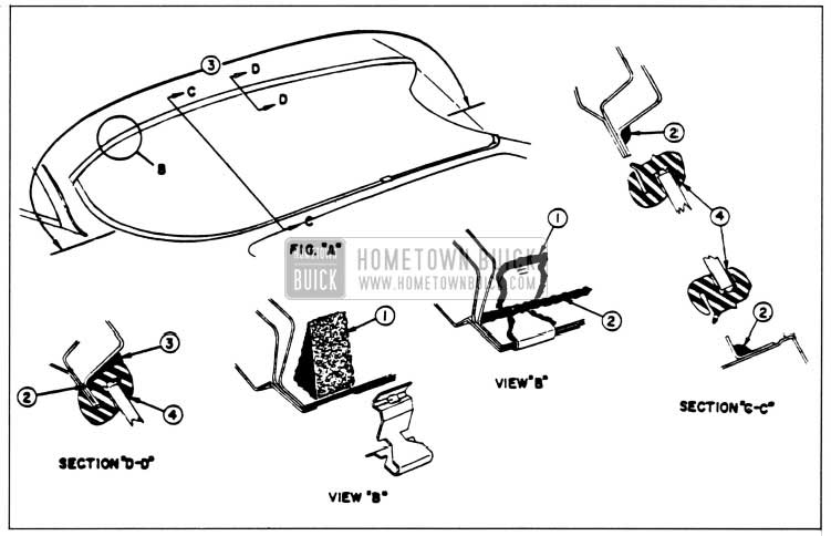 1958 Buick Installation of Back Window Assembly