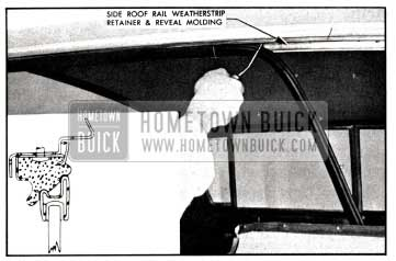 1958 Buick Installation of Side Roof Rail Weatherstrip