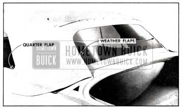 1958 Buick Installation of Weather Flaps and Quarter Flaps