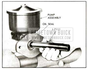 1958 Buick Installing Oil Seal View