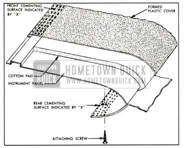 1958 Buick Instrument Panel Upper Cover Installation