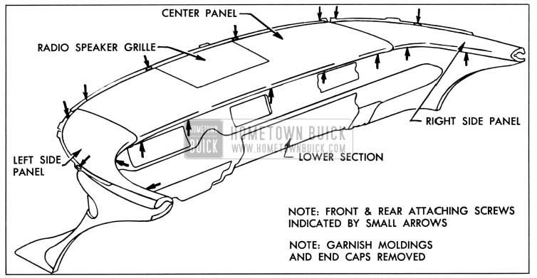 1958 Buick Instrument Panel Upper Section Attachment-Series 40