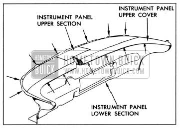 1958 Buick Instrument Panel Upper Section Attachment-Series 60