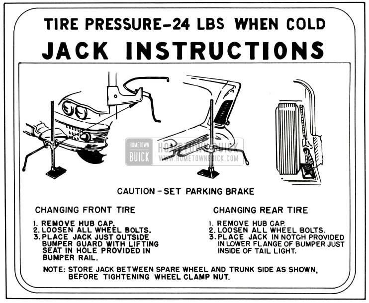 1958 Buick Jack Instructions
