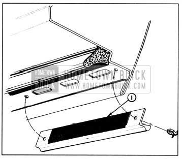 1958 Buick Lubrication of Door Bottom Drain Hole Sealing Strip