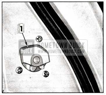 1958 Buick Lubrication of Door Lock
