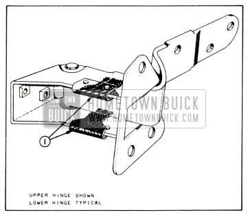 1958 Buick Lubrication of Front Door Hinge Hold-Open Clips