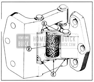 1958 Buick Lubrication of Rear Door Hinge and Held-Open Assembly-Series 50-70-700