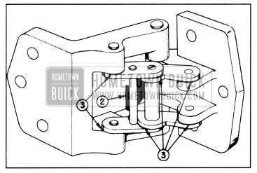 1958 Buick Lubrication of Rear Door Hinge and Hold-Open Assembly-Series 40-60