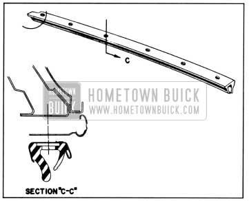 1958 Buick Lubrication of Side Roof Rail Weatherstrip