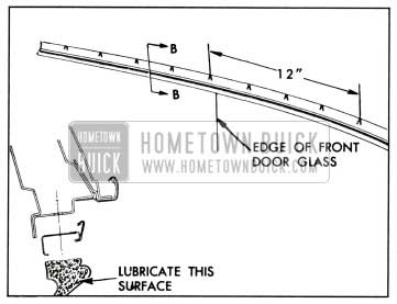 1958 Buick Lubrication of Side Roof Rail Weatherstrips