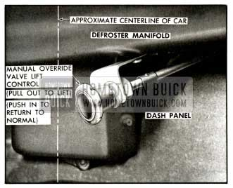 1958 Buick Manual Lift Control