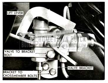 1958 Buick Override Valve - Lift Condition