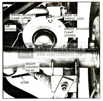 1958 Buick Rear Air Spring Assembly Schematic