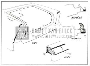 1958 Buick Rear Compartment Weatherstrip