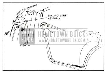 1958 Buick Rear Door Hinge Pillar Sealing Strip