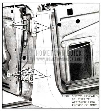 1958 Buick Rear Door Hinges