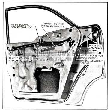 1958 Buick Rear Door Locking Mechanism-Model 41