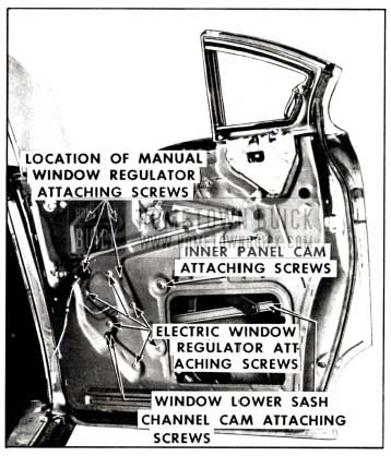 1958 Buick Rear Door Window Adjustments