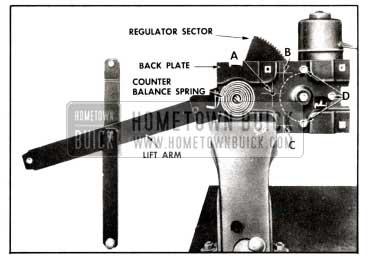 1958 Buick Rear Door Window Electric Regulator Assembly