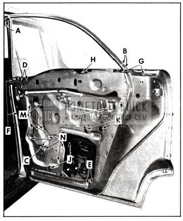 1958 Buick Rear Door Window Glass Removal