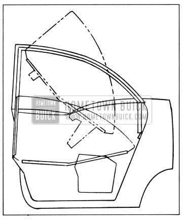1958 Buick Rear Door Window Installation-Model 41
