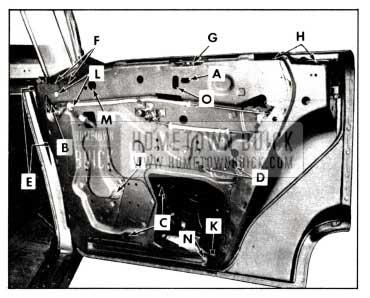 1958 Buick Rear Door Window Removal-Models 43-63