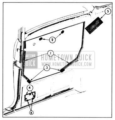 1958 Buick Rear Quarter Inner Panel Sealing