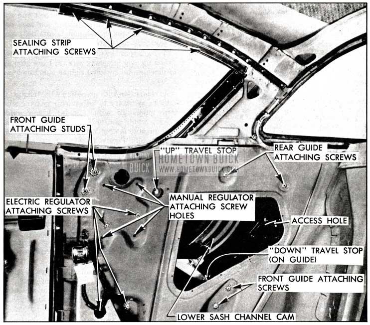 1958 Buick Rear Quarter Window  Attachment