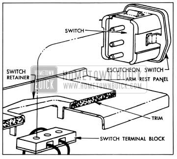 1958 Buick Rear Quarter Window Switch Attachment and Installation